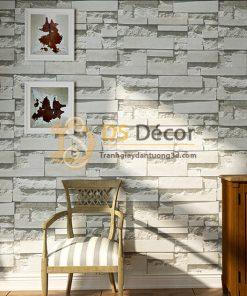 Giấy Dán Tường 3D Giả Gạch Đá 3D080