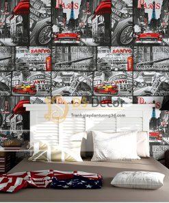 Giấy Dán Tường Hình Poster Áp Phích Quảng Cáo 3D053
