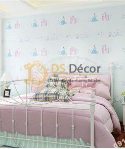 Giấy Dán Tường Công Chúa và Lâu Đài Phòng Ngủ Trẻ Em 3D122