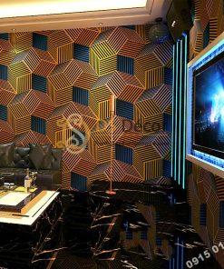 Giấy Dán Tường Quán Karaoke Hình Hộp 3 Chiều 3D201