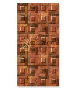 Giấy Dán Tường Giả Ụ Gỗ Nâu 3D234 Cho Nhà Hàng Quán Ăn