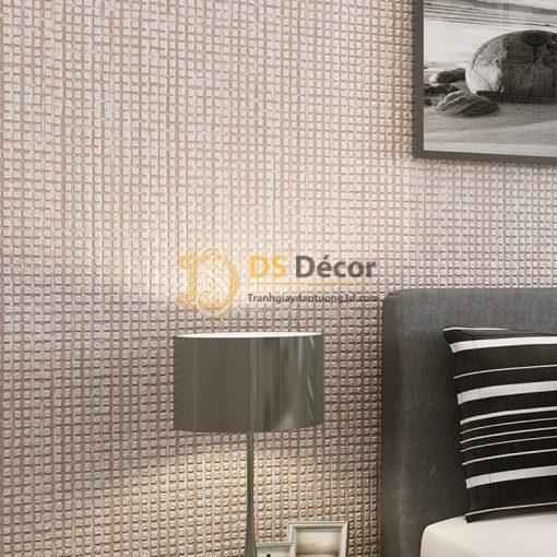 Giấy Dán Tường 3D – Chi Tiết Vuông Dập Nổi Đơn Giản 3D002