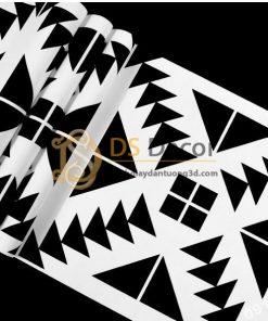 Giấy dán tường trắng đen đối xứng 3D255