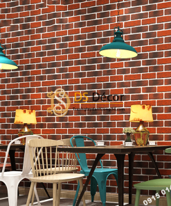 Giấy dán tường giả gạch cháy 3D302