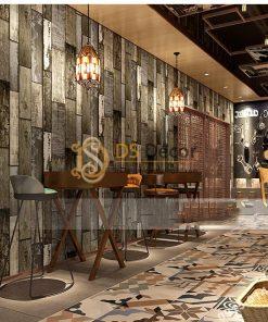 Giấy dán tường giả gỗ ván cổ vintage 3D290