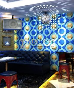 Giấy dán tường karaoke mắt xích tròn 3D309