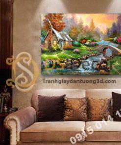 Tranh treo tường phong cảnh phong cách Châu Âu